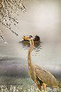 Great Blue Heron at Dusk by Yannik Hay