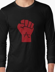 AlienLeague - Fight Human Oppression (r) Long Sleeve T-Shirt