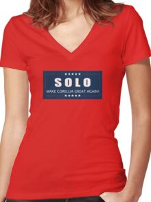 Han Solo 2016 Women's Fitted V-Neck T-Shirt