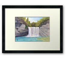 Cane Creek Falls Watercolor Painting Framed Print