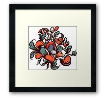 Floral composition. Framed Print