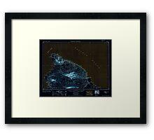USGS TOPO Map Hawaii HI Hawaii North 349918 1954 250000 Inverted Framed Print