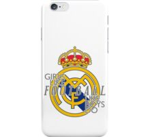 Girls like football like boys do iPhone Case/Skin
