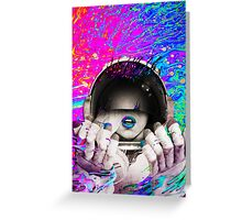 Psychedelic Astronaut (Vintage Effect) #2 Greeting Card