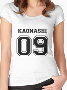 Spirited Away - No Face Varsity V2 - Kaonashi Women's Fitted Scoop T-Shirt