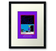 Birthday humour greetings card Framed Print