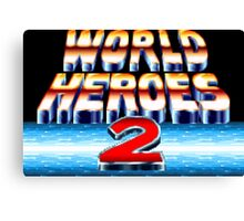 World Heroes 2 (SNES Title Screen) Canvas Print