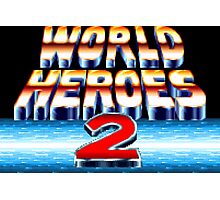World Heroes 2 (SNES Title Screen) Photographic Print