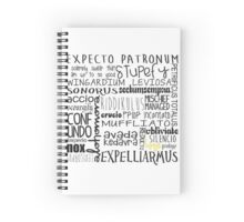 harry potter spells  Spiral Notebook