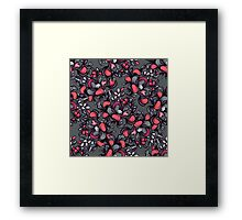 Floral composition with wild berries. Framed Print