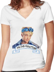 Dalton Rapattoni Flower Crown (American Idol) (IM5) (Fly Away Hero) Women's Fitted V-Neck T-Shirt