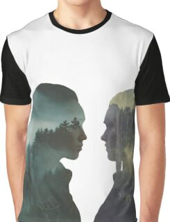 Clexa - The 100 - Forest Front Graphic T-Shirt