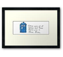 Doctor Who - Blue Box Framed Print