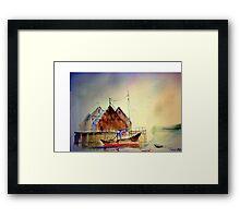 woodley island marina.eureka.ca Framed Print