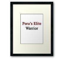 Peru's Elite Warrior  Framed Print