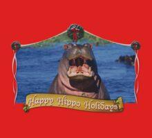 Happy Hippo Holidays Kids Tee