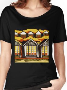 Beach Huts - Summer Women's Relaxed Fit T-Shirt