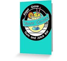 Angel Grove Youth Center - Gym & Juice Bar Greeting Card