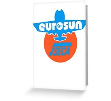 Vintage Airplane Eurosun Seca Decal Greeting Card