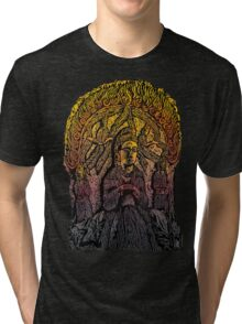 Taoist Figures of The Northern Wei Dynasty Tri-blend T-Shirt