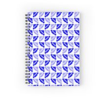 8 Bit Pixel Invaders - Blue Spiral Notebook