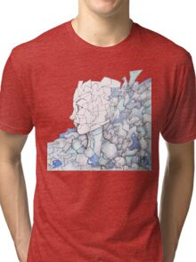 Abstracted Female Portrait Tri-blend T-Shirt