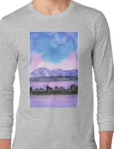 Far away on the road - Watercolor Painting Long Sleeve T-Shirt