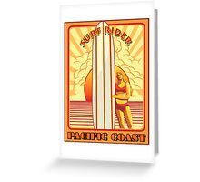 Pacific Coast Surfrider Greeting Card