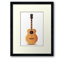 acoustic guitar illustration Framed Print