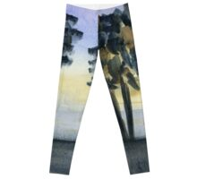 Abstract Trees - Watercolor Painting Leggings