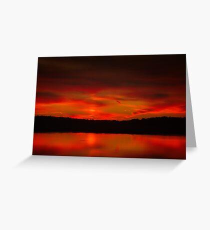 Quiet Flare of Nightfall Greeting Card