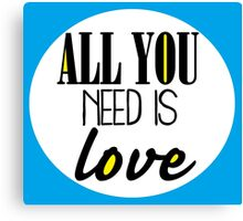 All you need is love - blue Canvas Print