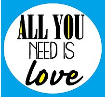 All you need is love - blue Photographic Print