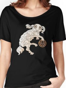 Long Life White Cloud Foo Dog Women's Relaxed Fit T-Shirt