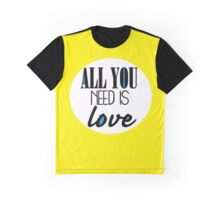 All you need is love - yellow Graphic T-Shirt