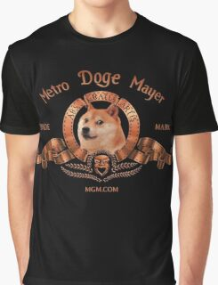Metro Doge Mayer Movie Logo Graphic T-Shirt