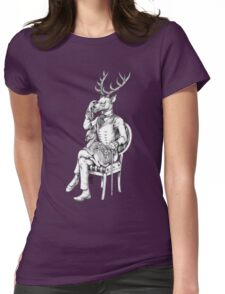 Deer and Fawn Womens Fitted T-Shirt
