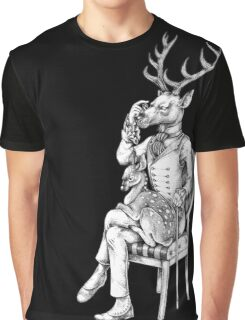 Deer and Fawn Graphic T-Shirt