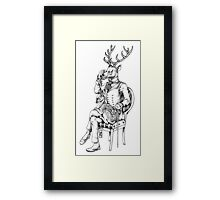 Deer and Fawn Framed Print