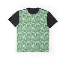 Green Skulls Graphic T-Shirt