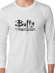 Buffy the Vampire Slayer chest level logo Long Sleeve T-Shirt