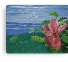 Paradise (Original Flower Oil Painting) Canvas Print