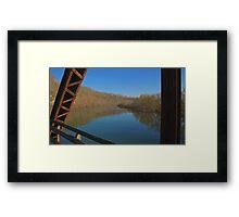 Framed by the Bridge Framed Print