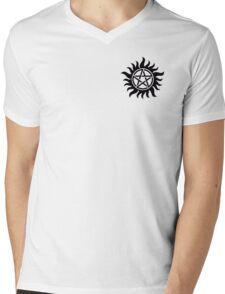 Anti-Possession Chest Tattoo Like Sam & Dean! Mens V-Neck T-Shirt