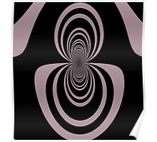Black lavender mirror image abstract     Poster