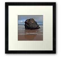 Black Rock On Sango Bay Framed Print