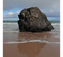 Black Rock On Sango Bay Photographic Print