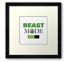 WellnessCoaches Beast Mode On Unisex Framed Print