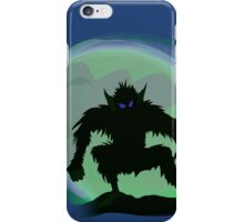 Wolfman In Moonlight iPhone Case/Skin