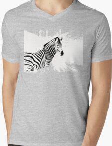 zebra love Mens V-Neck T-Shirt